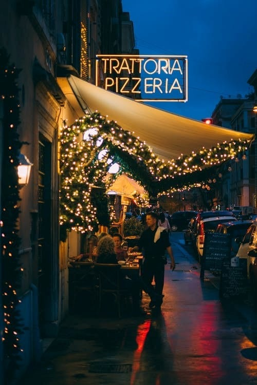 Outdoor Pizza Restaurant