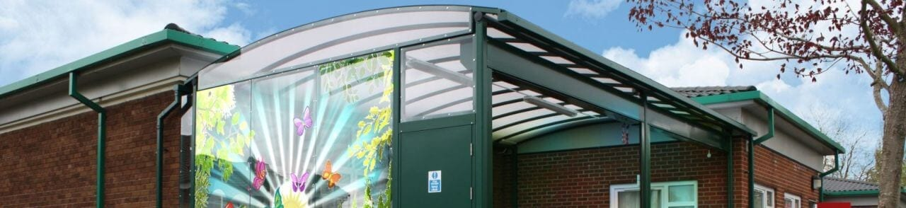 School Canopy with Printed Polycarbonate