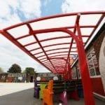 Canopy we installed at Shelton Infants School