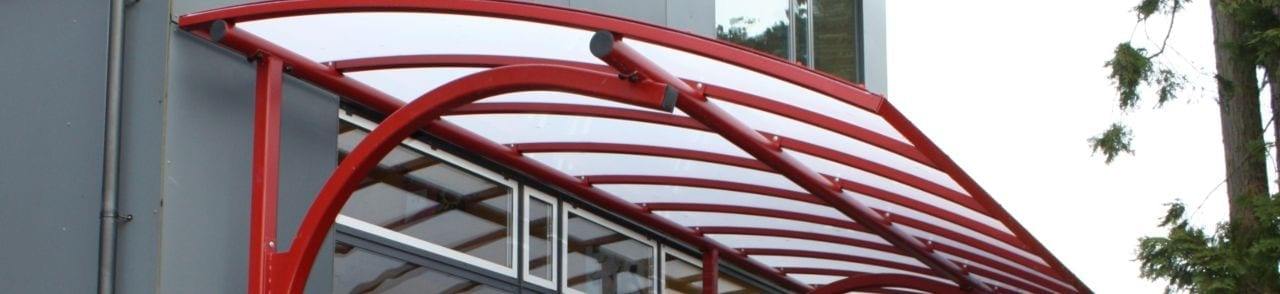 Red Cantilever Canopy