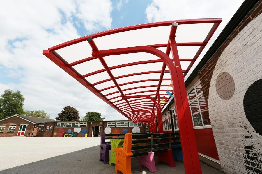 Canopy we installed at Shelton Infants School