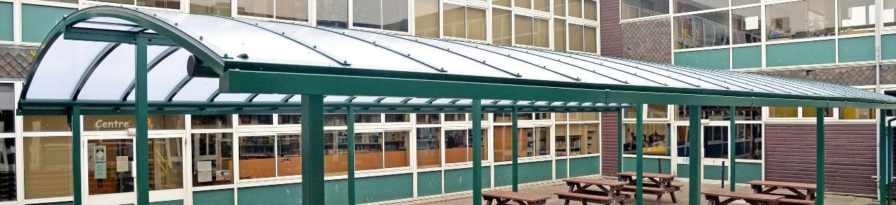 Rushcliffe School Dining Area Canopy