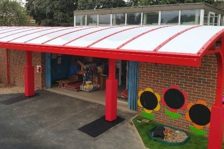 Canopy we fitted at Shelton Infants School