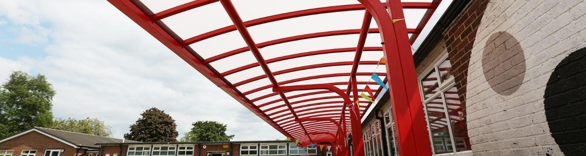 Shelter we fitted at Shelton Infants School