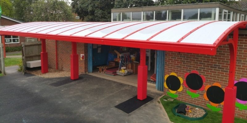 Shelton Infants School Cantilever Canopy