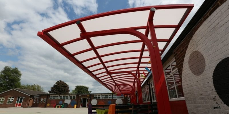Shelter we installed at Shelton Infants School