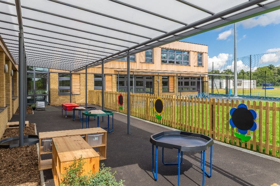 Canopy we fitted at Simon Balle All-Through School