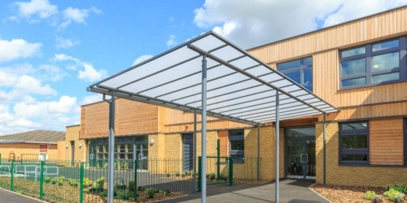 Shelter we added to Simon Balle School