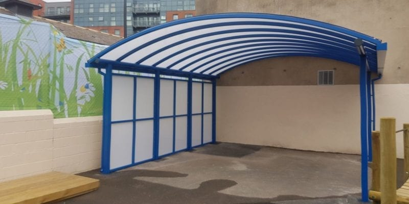 Canopy we installed at Springfield Primary School