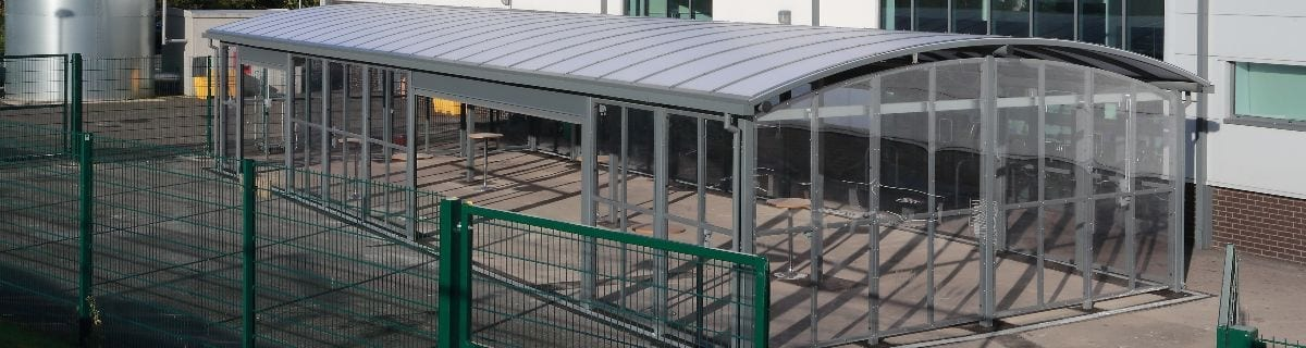 Canopy we installed at St Cuthbert's School