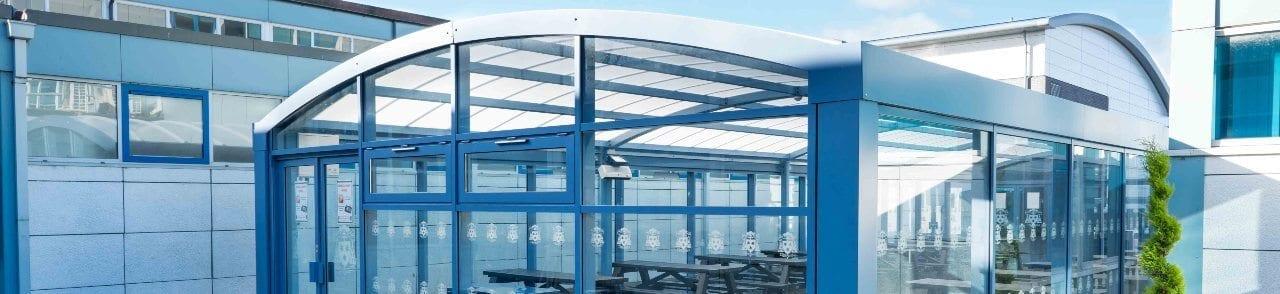 Shelter we designed for St Wilfrid's High School