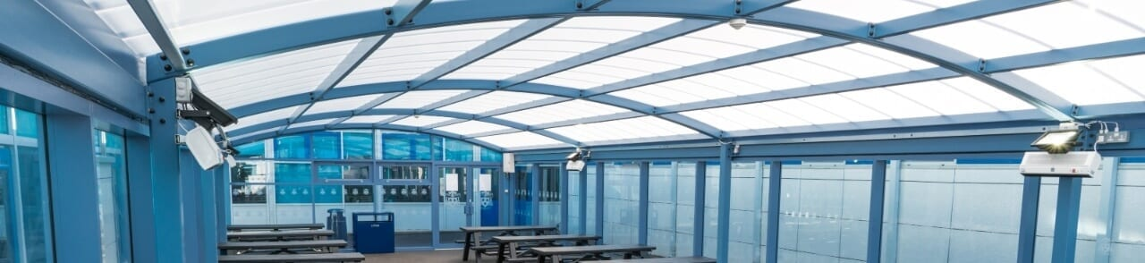Canopy we made for St Wilfrid's High School
