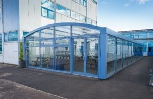 Canopy we designed for St Wilfrid's Catholic High School