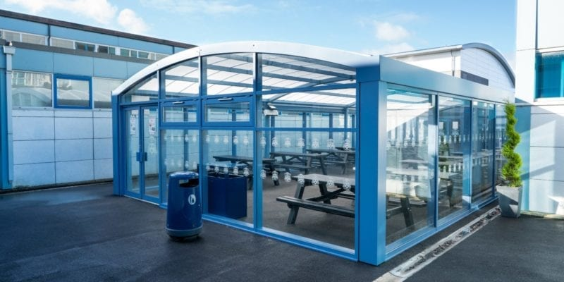 Shelter we installed at St Wilfrid's School
