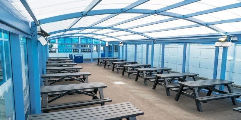 Shelter we designed for St Wilfrid's School