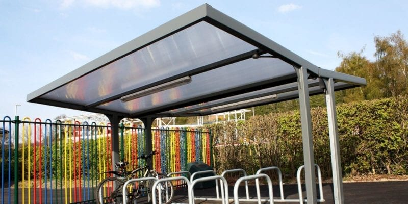 Straight Roof Cycle Shelter