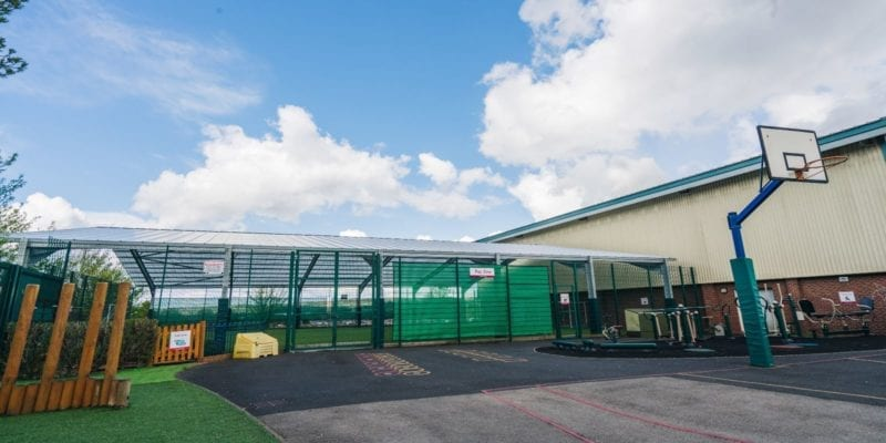 Covered MUGA we installed at The Brier School