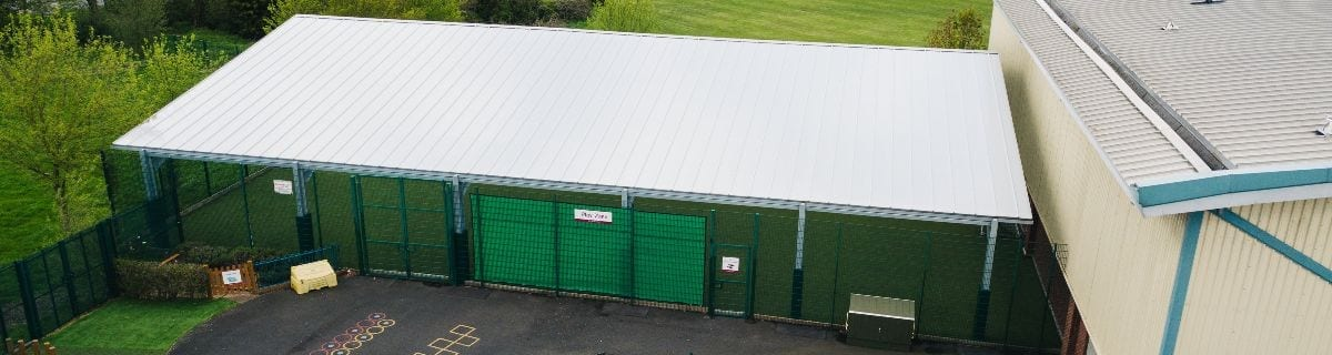 Covered MUGA we added to The Brier School