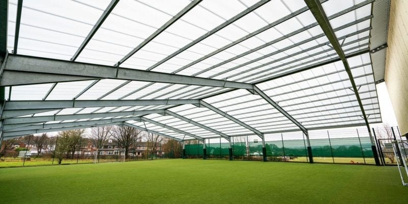 The Brier School Covered MUGA Canopy