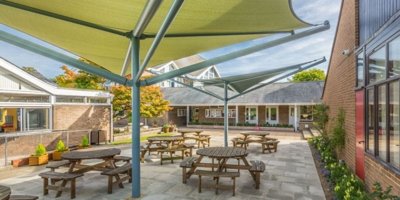 The Perse School Outdoor Dining Area