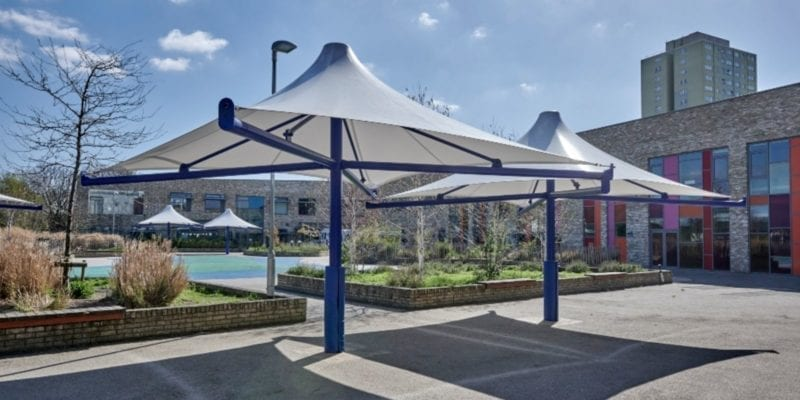Canopies we installed at The Willow School