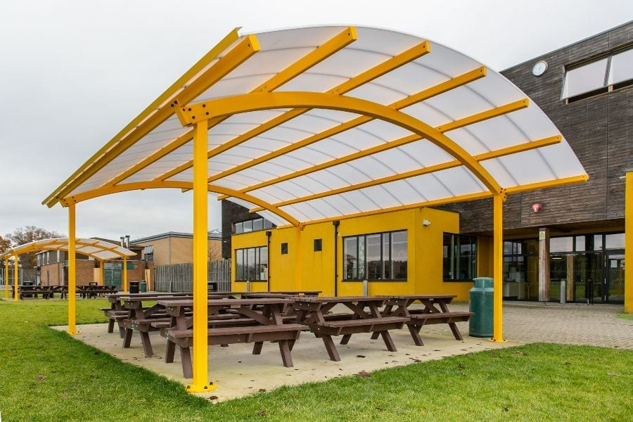Canopy we fitted at Waingels College