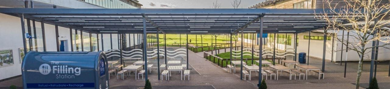 Whitecross High School Dining Canopy