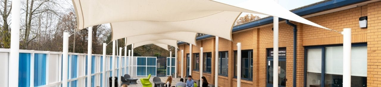 Wilmslow College Shade Sail