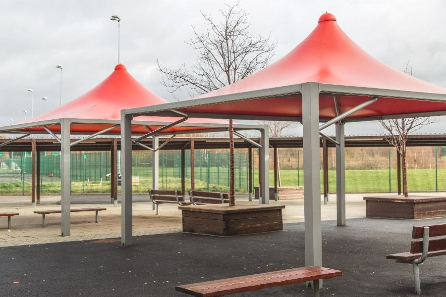Canopies we designed for Wright Robinson College