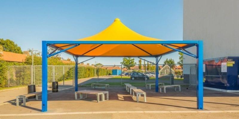 Yellow Fabric Tepee Canopy