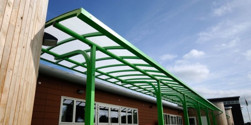 Canopy we installed at Ysgol Bro Alun