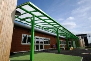 Shelter we fitted at Ysgol Bro Alun