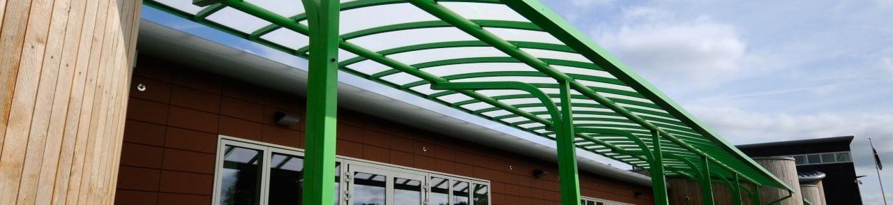 Ysgol Bro Alun Cantilever Canopy
