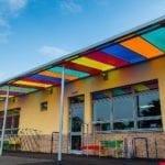 Ysgol Bro Teifi Colourful Shelter