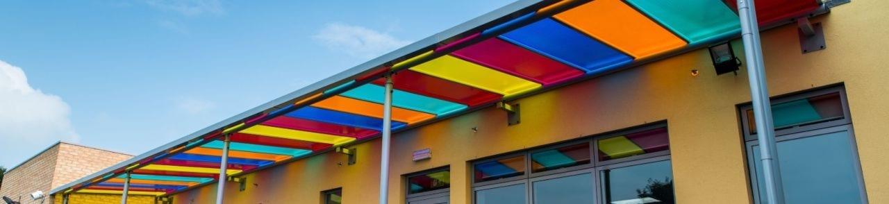Ysgol Teifi Colourful Playground Shelter