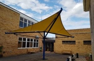 Canopy we designed for City College Peterborough