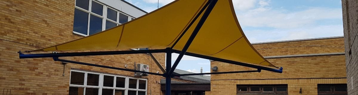 Canopy we installed at City College Peterborough
