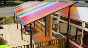 Colourful Polycarbonate Roof Shelter