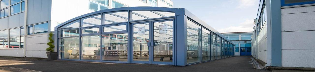 St Wilfrid's High School Enclosed Dining Shelter