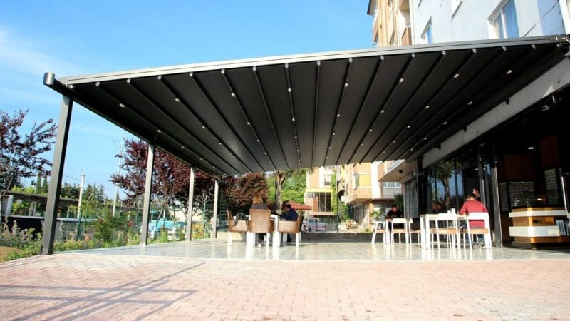 Large Retractable Canopy Structure