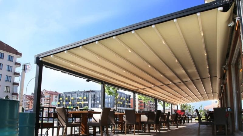 Retractable Cafe Canopy