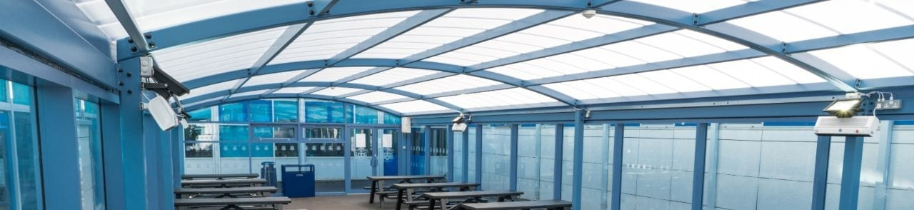 St Wilfrid's School Dining Canopy