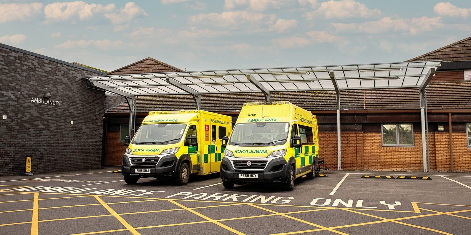 Ambulance canopy we made for Countess of Chester