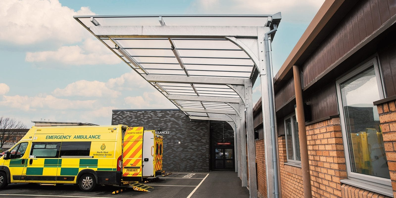 Ambulance shelter we designed for Countess of Chester