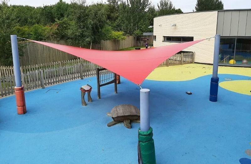 Sail shade we designed for Bluebell Park SEN