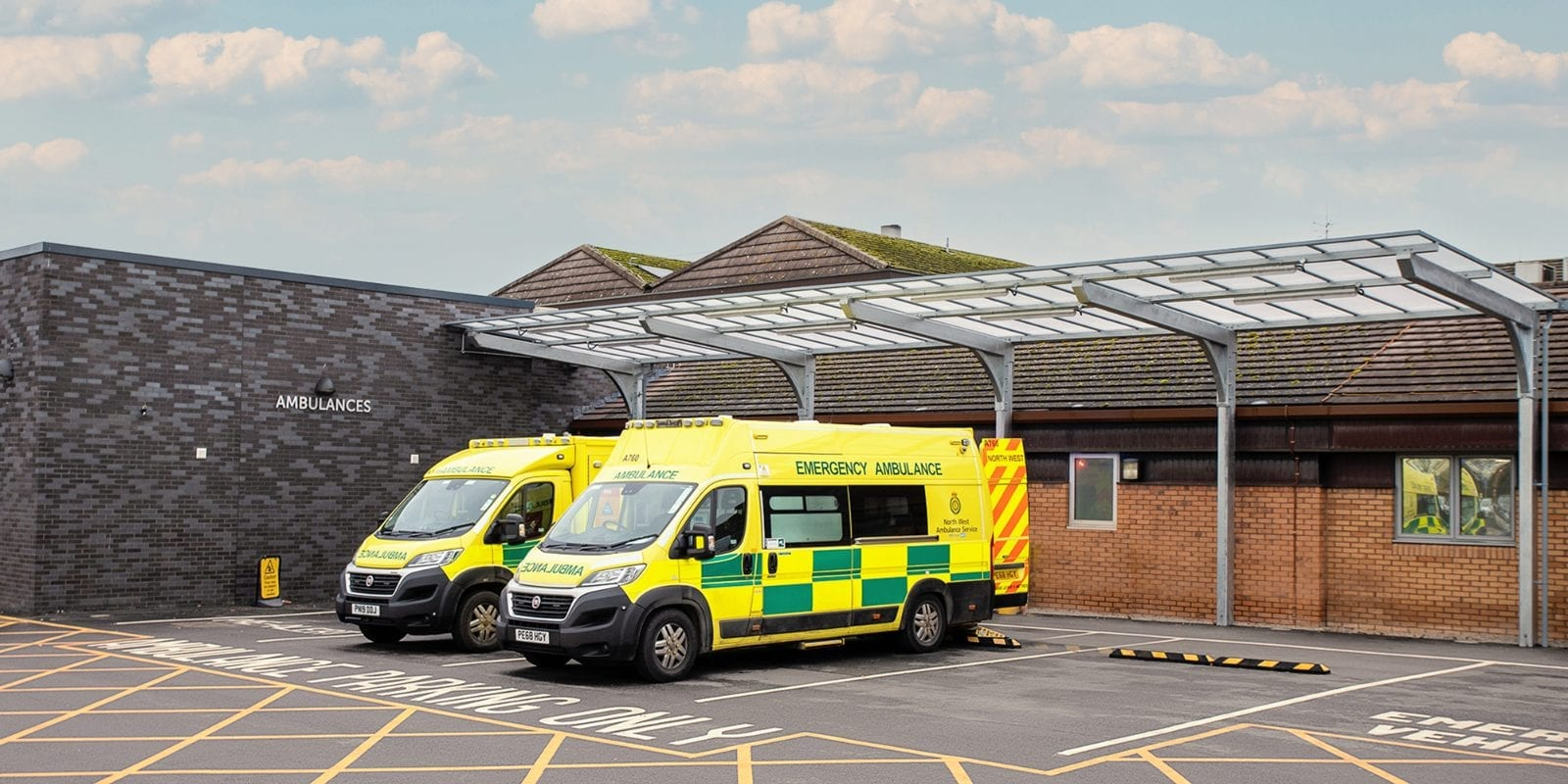 Cantilever shelter we fitted at Countess of Chester