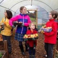 Children in Greenhouse
