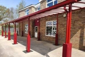 Shelter we designed for Covingham Park Primary School