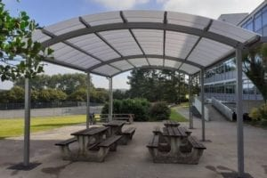 Dining Area Canopy we designed for Falmouth School