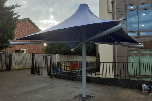 Umbrella canopy we made for Glebe School